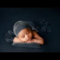 Newborn Baby Photography Props Luxury Velvet Sleeping Cap + Pillow + Headband 3PCS fashion Soft Shiny Baby Photo Prop Hat