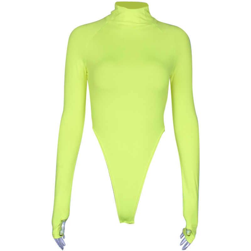 Toplook пикантные комбинезон с воротником для женщин с длинными рукавами средства ухода для тела 2019 Весна одежда тонкий короткий облегающий бандажный комбинезон