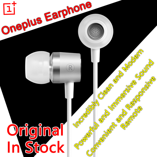 2b6164e9b82 Original Oneplus Earphone with Mic OnePlus Silver Bullet Earphones Headset  Headphone For oneplus one plus one two x opo op2 opx