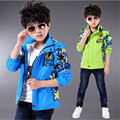 Spring and Autumn 2016 new children's clothing boy coat children baby cardigan jacket new big virgin child coat jacket tide