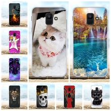 For Samsung Galaxy A6 2018 Cover Soft Silicone Case Scenery Patterned Shell Bag