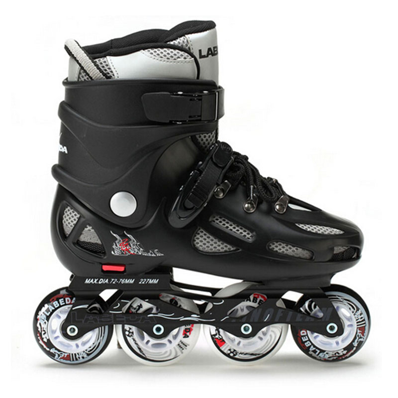 Labeda Slalom Inline Skates 4 Wheels Adult Skating Shoes With Rocking Type PU Wheels For Free Skating Sliding Street Skating bauer vapor rh x50r inline skates 4 jr