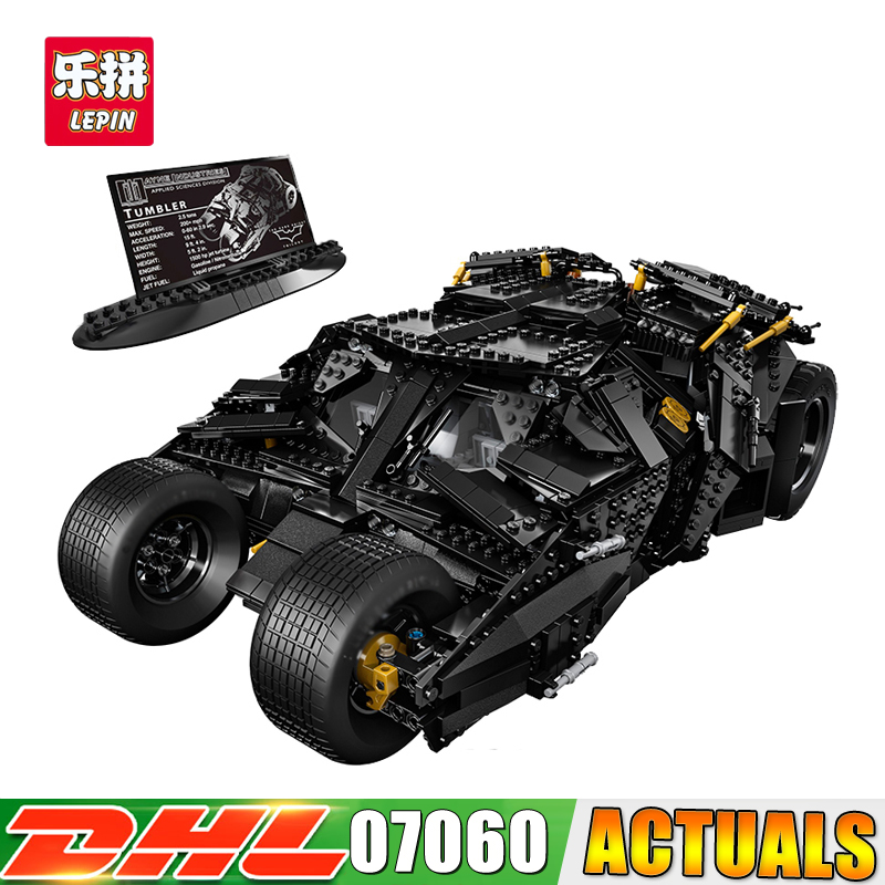 LP 07060 Super Hero Movie Series The Batman Armored Chariot Set Compatible legoings 76023 Building Block Brick Boy Toys hot compatible legoinglys batman marvel super hero movie series building blocks robin war chariot with figures brick toys gift