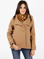 Camel coat with Hood