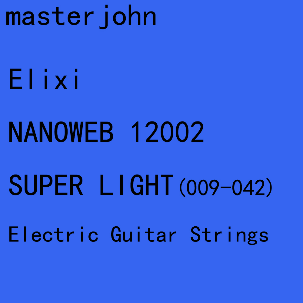 12 sets of elix nanoweb polyweb electric guitar strings anti rust plain steel strings super. Black Bedroom Furniture Sets. Home Design Ideas