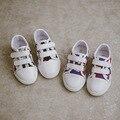 2016 niños shoes deportes de otoño de los nuevos niños zapatillas de lona niños niñas colores mezclados tejer moda niños casual shoes