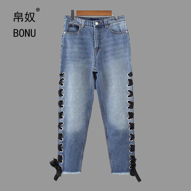 Aliexpress.com : Buy BONU 2017 Fashion High Waist Women Slim Jeans ...
