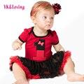 Nueva infant clothing set baby girl tutu dress primero cumpleaños party outfit mameluco burbuja dress para 0-2y del niño ropa de verano a