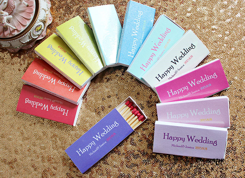 12 Bo Can Personalized Customized Shining Match Lighters Colorful