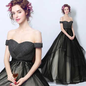 Walk Beside You Black Evening Dresses vestido de baile longo ajax tenue 2020 voetbal Ball Gown Prom Dresses with Pleats