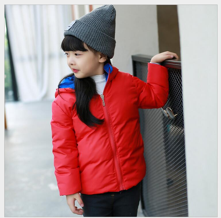 Children s clothes down jacket 2016 autumn and winter models of boys and girls double sided