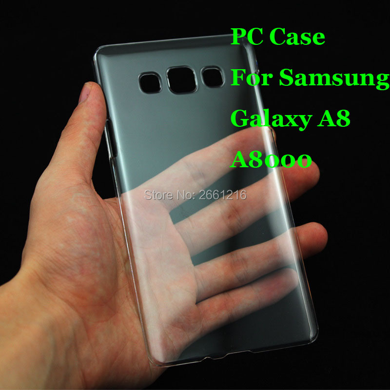 A8 A800 Hard PC Case Ultra Thin Clear Hard Plastic Cover Protective Skin For <font><b>Samsung</b></font> Galaxy A8 <font><b>A8000</b></font> 5.7 Inch image