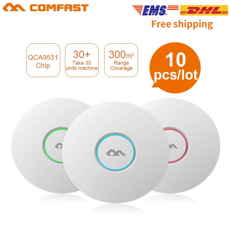 COMFAST Wifi-Router Ap-Antenna 300mbps Access-Point-Ap Ceiling-Ap 10PCS Indoor Wireless
