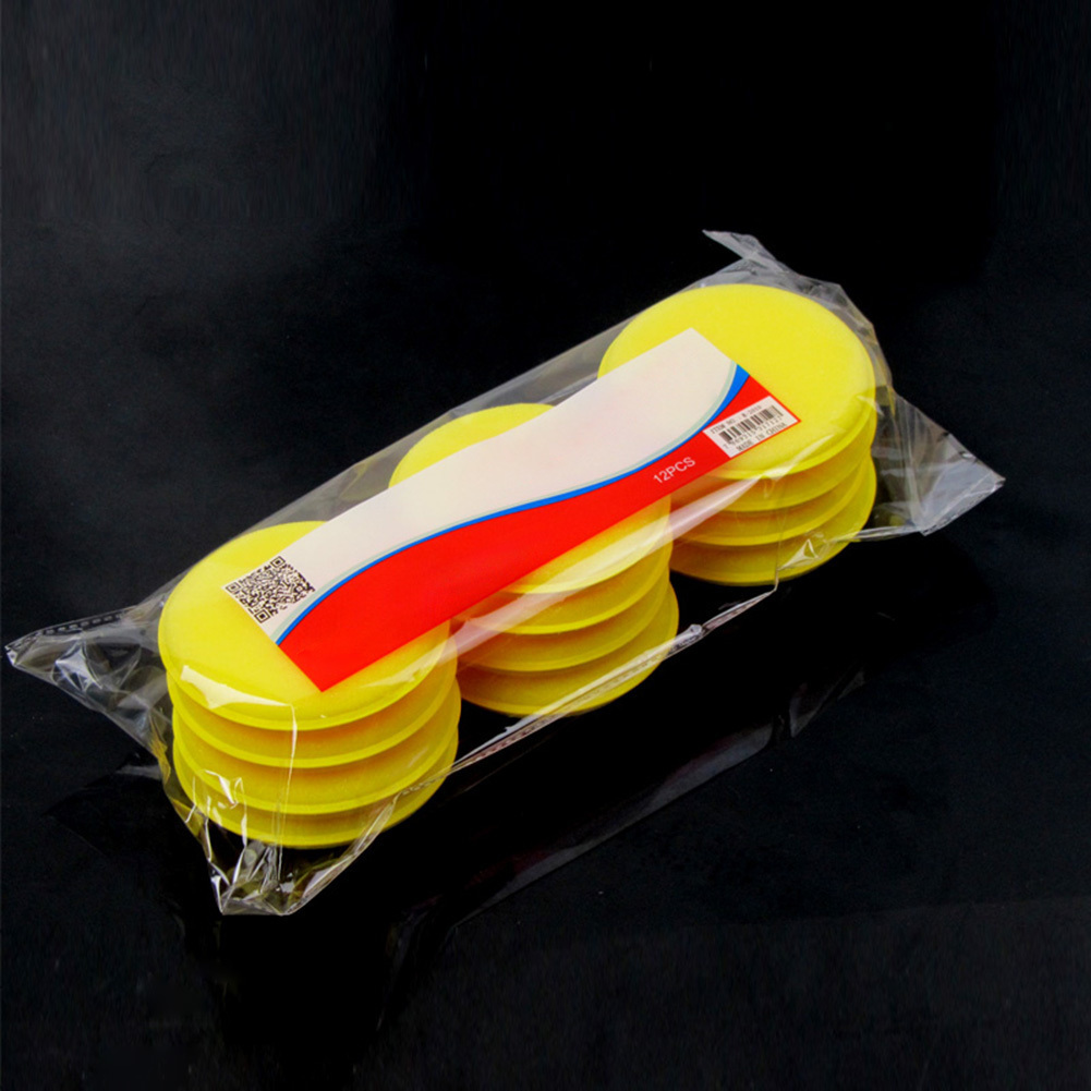 12 Pcs/lot High Qualtiy Sponge Polishing Wax Pad Soft Microfiber Car Waxing Sponges Car Wax Applicator Pads Polishing Sponges