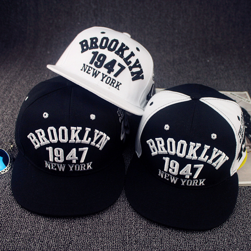 Fashion 1947 Brooklyn Style Snapback Baseball Cap Hatte af god kvalitet Snapback Cap New York Hip-hop Cap
