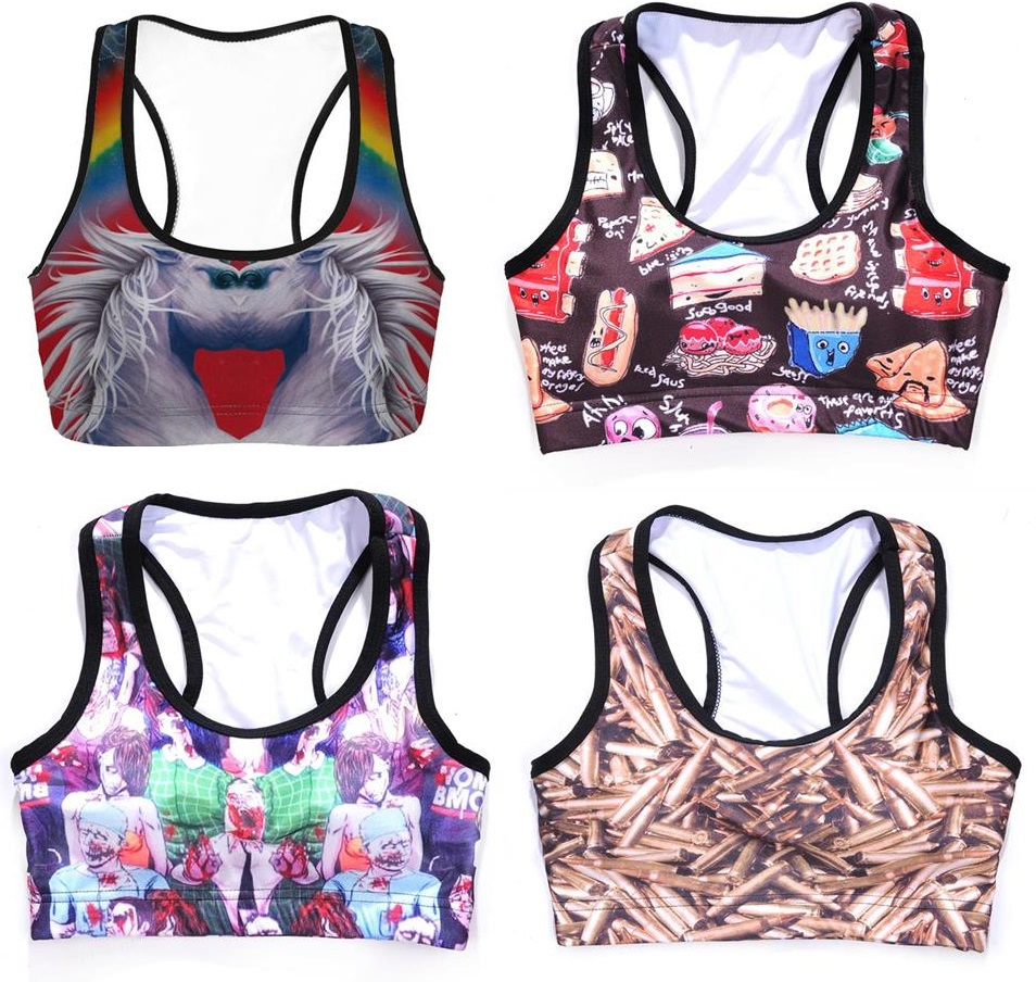 Breathable Women Wirefree font b Sports b font font b Bras b font Crop Top Fitness