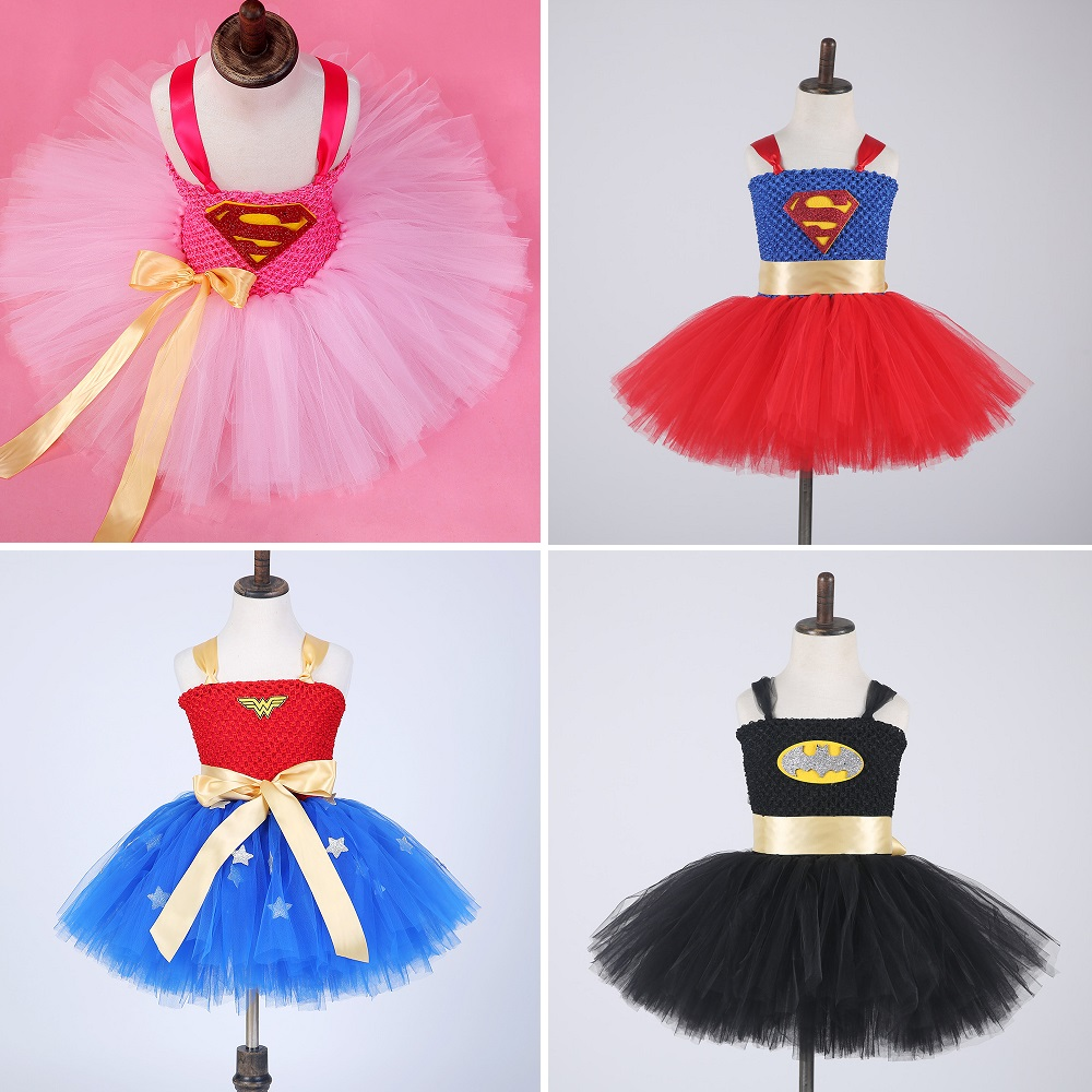 Wonder Woman Costume Superman Game Anime Dress Party Party Cospaly Batman Costume Child Birthday Gift Kids Party Costume