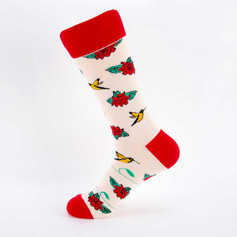 2018 Lolita flor calcetines con calaveras patrón corto adolescente divertidos calcetines de algodón mujeres invierno hombres Unisex Happy calcetines cortos para mujer