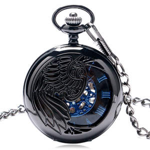 Watch Mechanical-Pocket Skeleton-Dial-Steampunk Gift Cool Women Blue New Peacock Black
