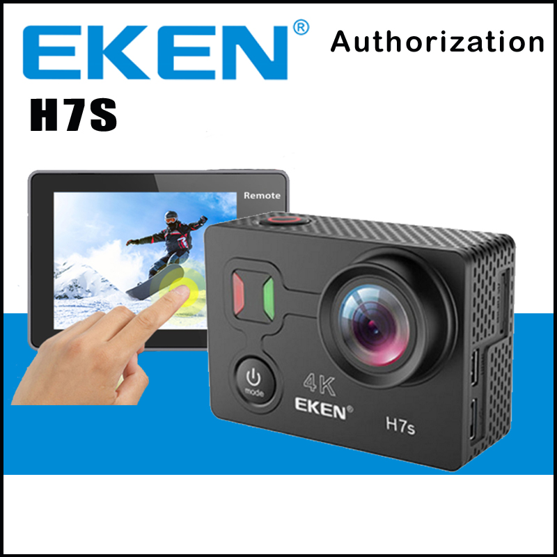 EKEN H7S Action Camera Touch Screen Sport Cam Remote HD 4K WiFi 1080P 60fps 2.0 LCD 170D Sport Go Waterproof Pro Camera soocoo 360h wifi 360 degree panorama vr 4k camera 1080p 60fps full hd lcd screen mini sport action camera with remote controller