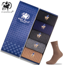 PIER POLO Brand  Wool Socks Warm High Quality Dress Gifts For Men Calcetines Hombre Business Winter 5pair