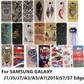 Телефон case color pattern мягкий Гель тпу задняя крышка Для SAMSUNG GALAXY A3 A5 A7 J1, J5 J7 2016 Nxt Мини J105 A310 G930 S7 Края G935