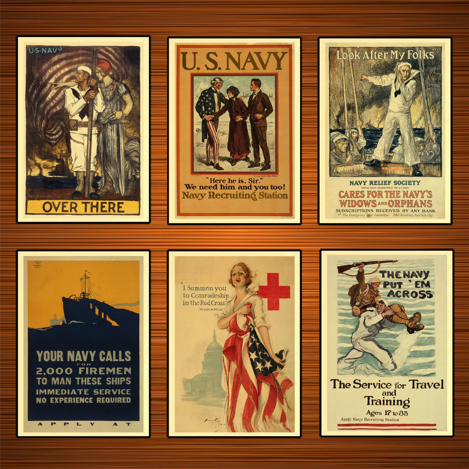 Vintage 1910s USA WW1 Propaganda Poster I Summon You in The Red Cross Classic Canvas Paintings Wall Stickers Home Decor Gift image