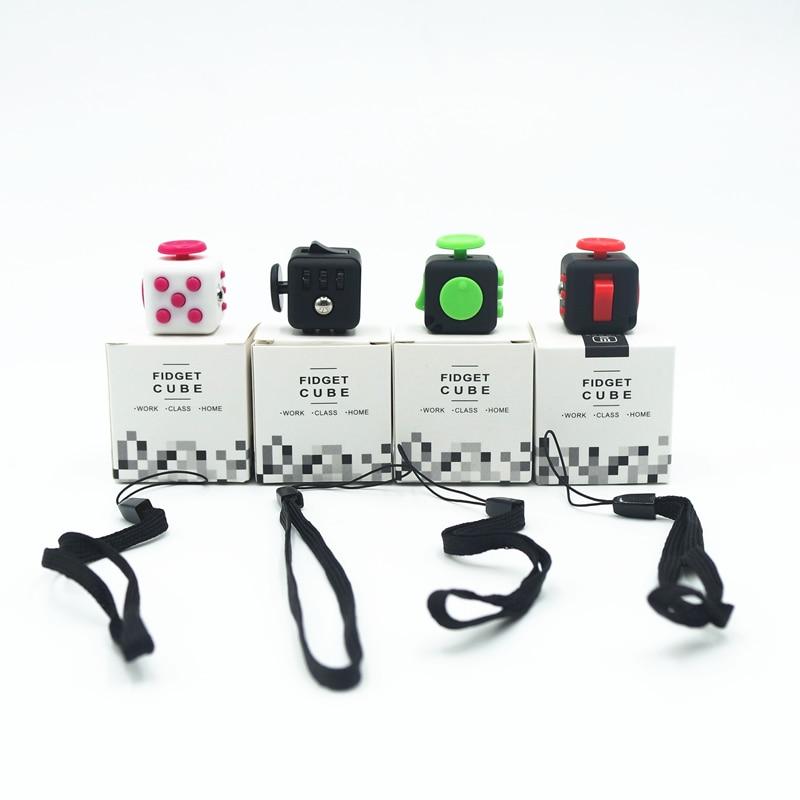 Mini Fidget Cube Vinyl Desk Toy Keychain Squeeze Fun Stress Reliever 2 2cm Varied Colour Click
