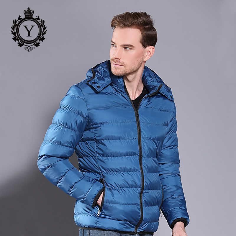 2018 COUTUDI חדש חורף מעיל מעיל Mens ברדס עבה חם Windproof איכות כותנה מרופד מותג בגדי גברים להאריך ימים יותר מעיל
