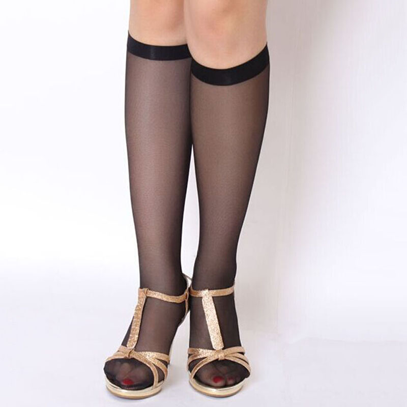 10 pairs/ pack new sexy cheap practical tube socks half short Slim transparent comfortable socks