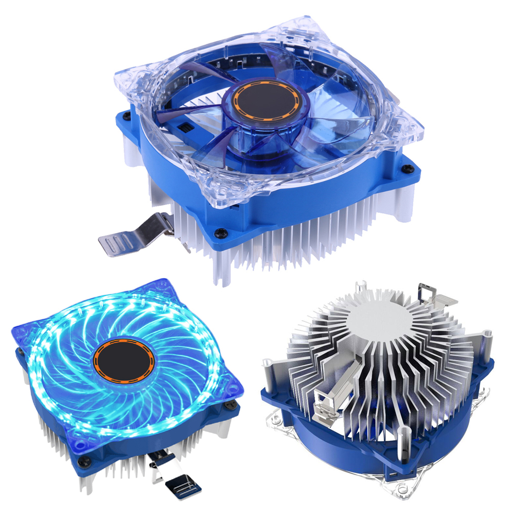 Mini 1Pcs Creative DC 12V 25 LED CPU Cooling Fan Computer Cooling Fan Replacement for Intel AMD PC Case Cooler High Quality 1 piece jonsbo fr 201p 120mm pc case cooler cpu fan radiators computer cooling fan led light 4pin pwm for intel amd diy mod