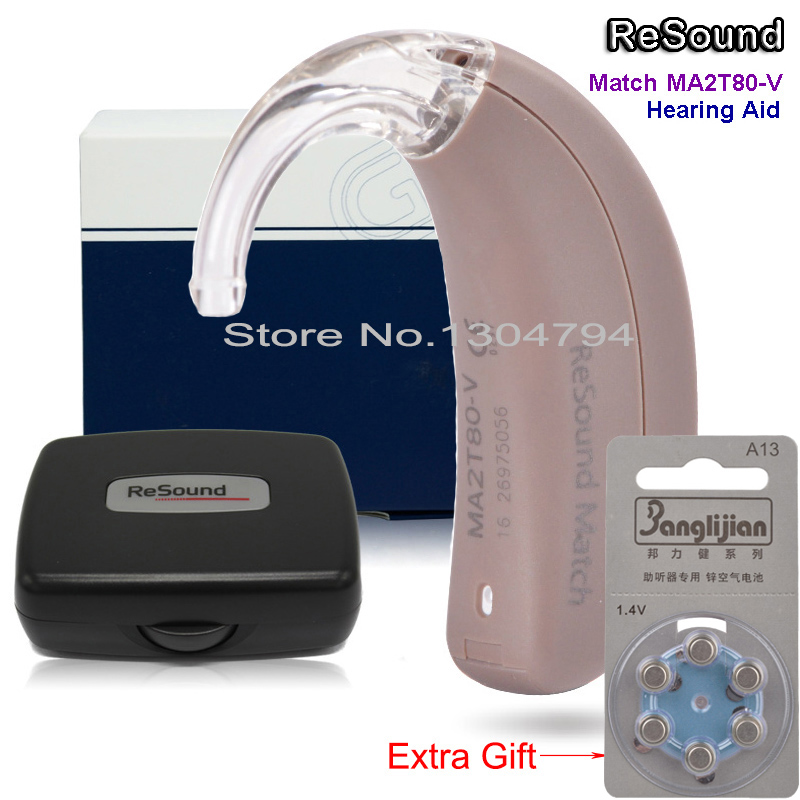 2018 NEW!!GN ReSound BTE Digital Hearing Aid Ear Aids MATCH MA2T80-V Severe to Profound Loss 3-CH High Super Power Mini Sound acosound invisible cic hearing aid digital hearing aids programmable sound amplifiers ear care tools hearing device 210if