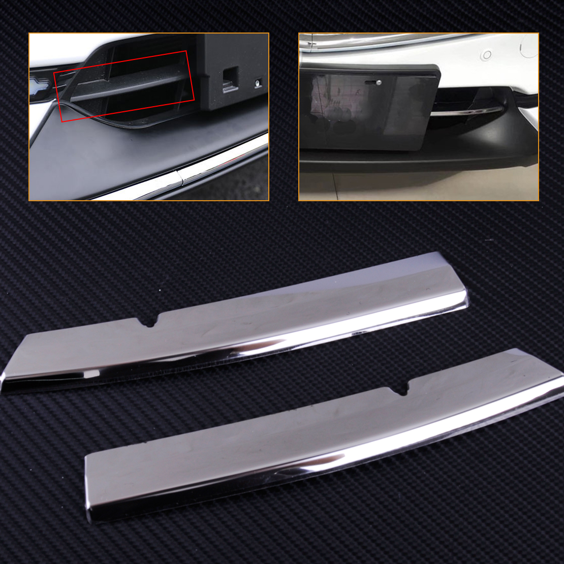 CITALL High Quality Stainless Steel Chrome Plated Grill Strips Bumper Air-inlet Grille Trims Fit for <font><b>Mazda</b></font> <font><b>CX5</b></font> 2017 2018 image