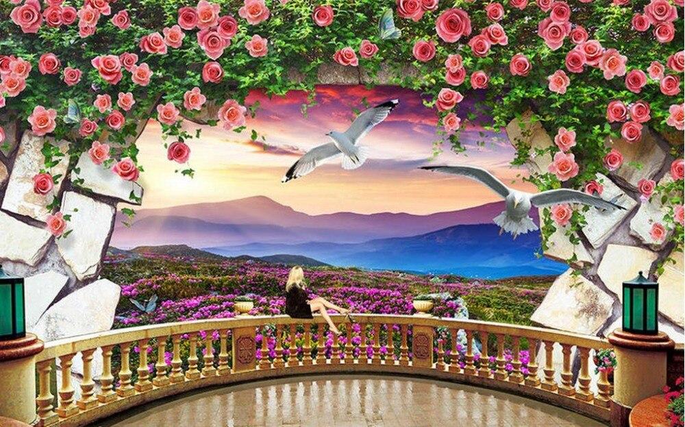 Modern Elegant Photo Wallpaper For Living room Custom Home ...