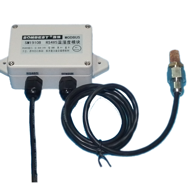 Free Shipping   RS485 SM1910B Protective Greenhouse Environment Temperature And Humidity Sensor MODBUS Containing SHT10