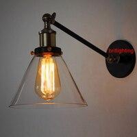 ランプe27エジソン電球ランプ壁ロフトヴィンテージファッションベッド-照明アメリカンスタイルバードケージウォールランプ延長アームウォールライト
