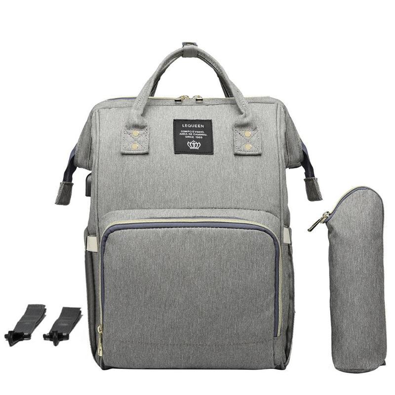 Maternity Waterproof Diaper Bag USB Charging Large Mummy Nursing Backpacks