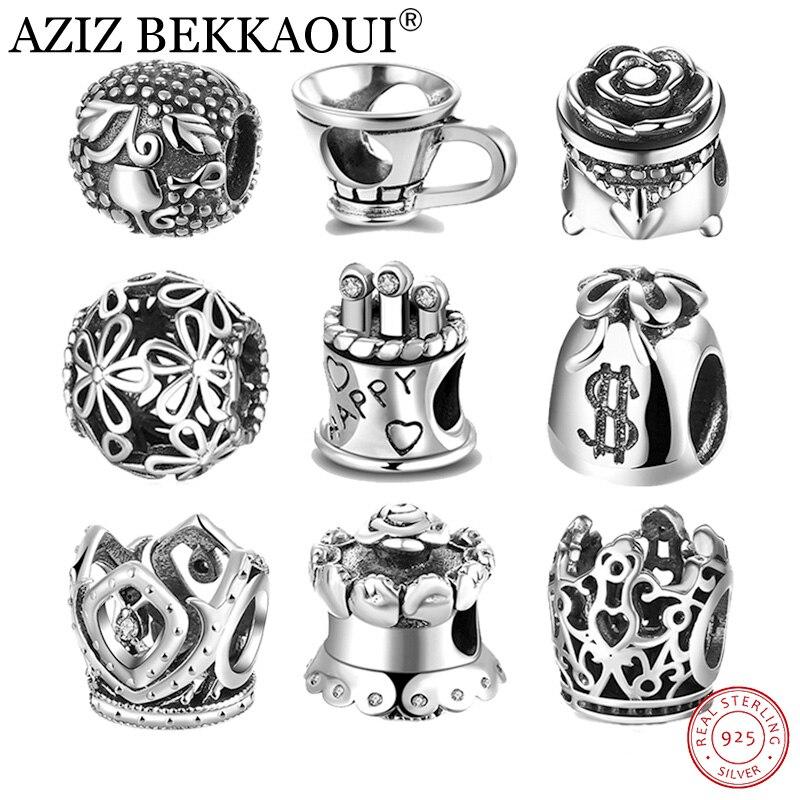 AZIZ BEKKAOUI Authentic 925 Sterling silver jewelry Beads