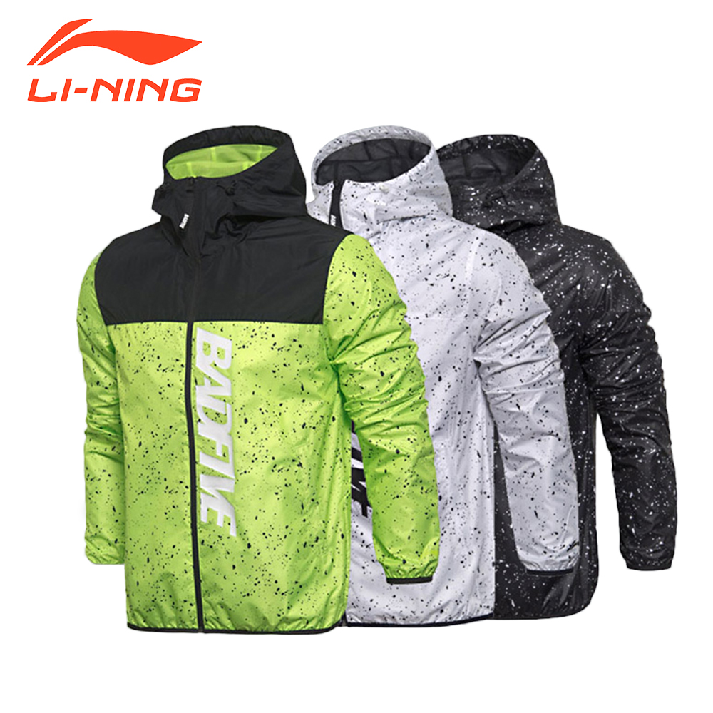 Li-Ning New Arrival Men's Running Jacket Windbreaker Basketball Sport Printing Clothings AFDM007 original li ning men professional basketball shoes