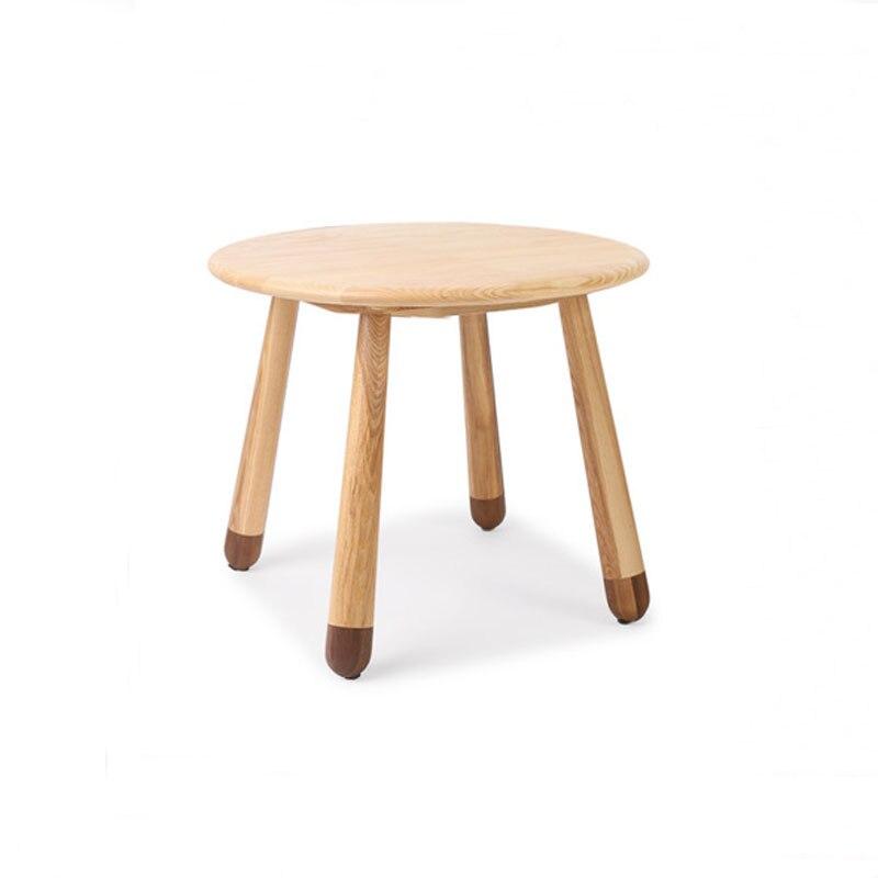 60CM Round Children Table Ash Wood End Table thumbnail