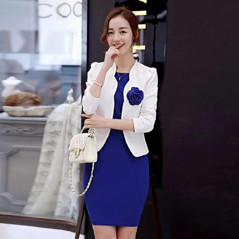 09ce0290e43 ... New 2019 close-fitting hip dress slim fit office blazers for women  professional work outfits ...
