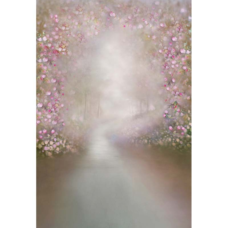 Customize vinyl cloth pink floral oil painted style photo backgrounds for newborn wedding photography studio backdrops CM-2871