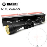 KANDAR 4.5-14x50 AOE Caccia Mirino Red Special Croce Reticolo Sniper Optic Scope Sight PER Carabina One Piece 11mm o 20mm anello