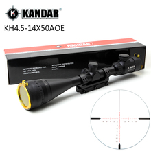 KANDAR 4.5-14x50 AOE Hunting Riflescope Red Special Cross Reticle Sniper Optic Scope