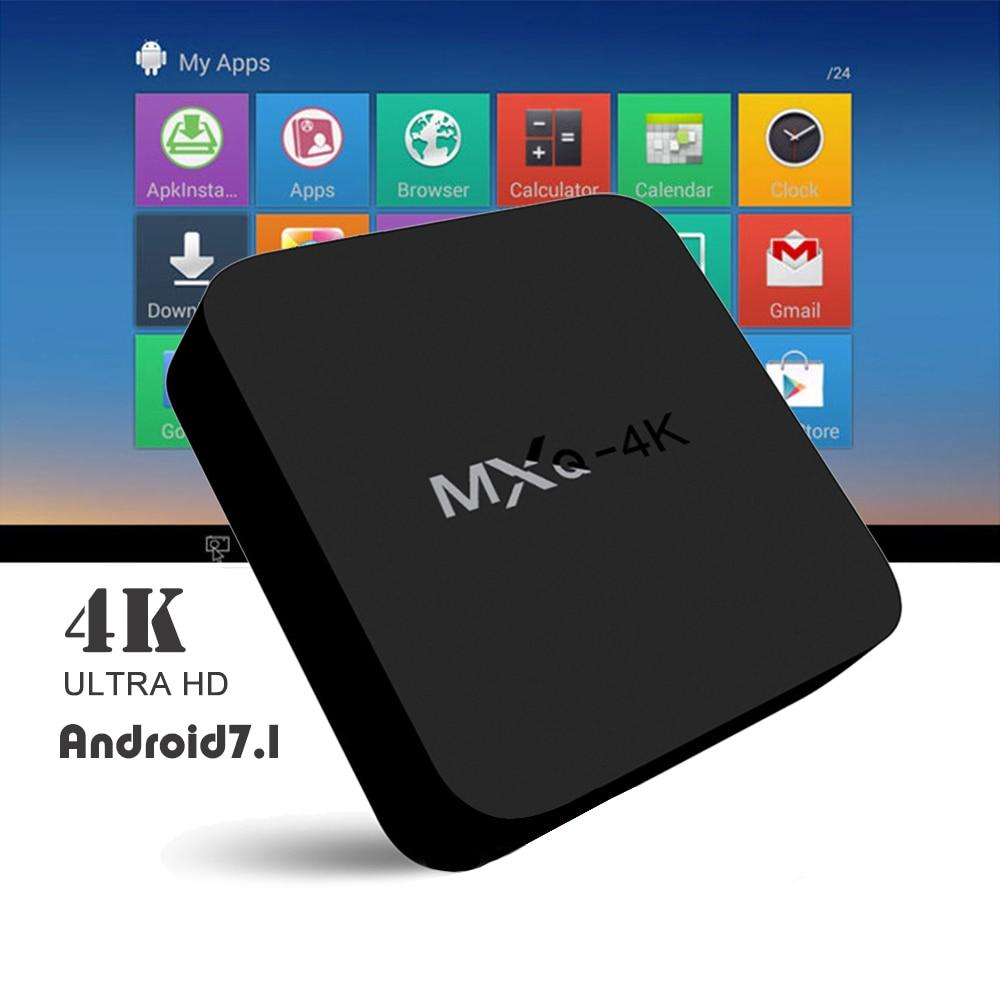 Set top Box MXQ 4K HD TV BOX Quad Core 1+8GB Android 7.1 Streaming Media Player mxq 4k mxq 4k android tv box rk3229 2gb ram 8g rom bt 4 0 2 4g wifi hdmi2 0 iptv top box google play store media player pk x96