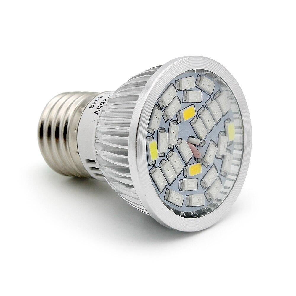 Full Spectrum 5730 E27 28W 28 SMD LED Grow Light 220V 110V Plant Growing Lamp Blub For Indoor Flower Hydroponics Box Tent