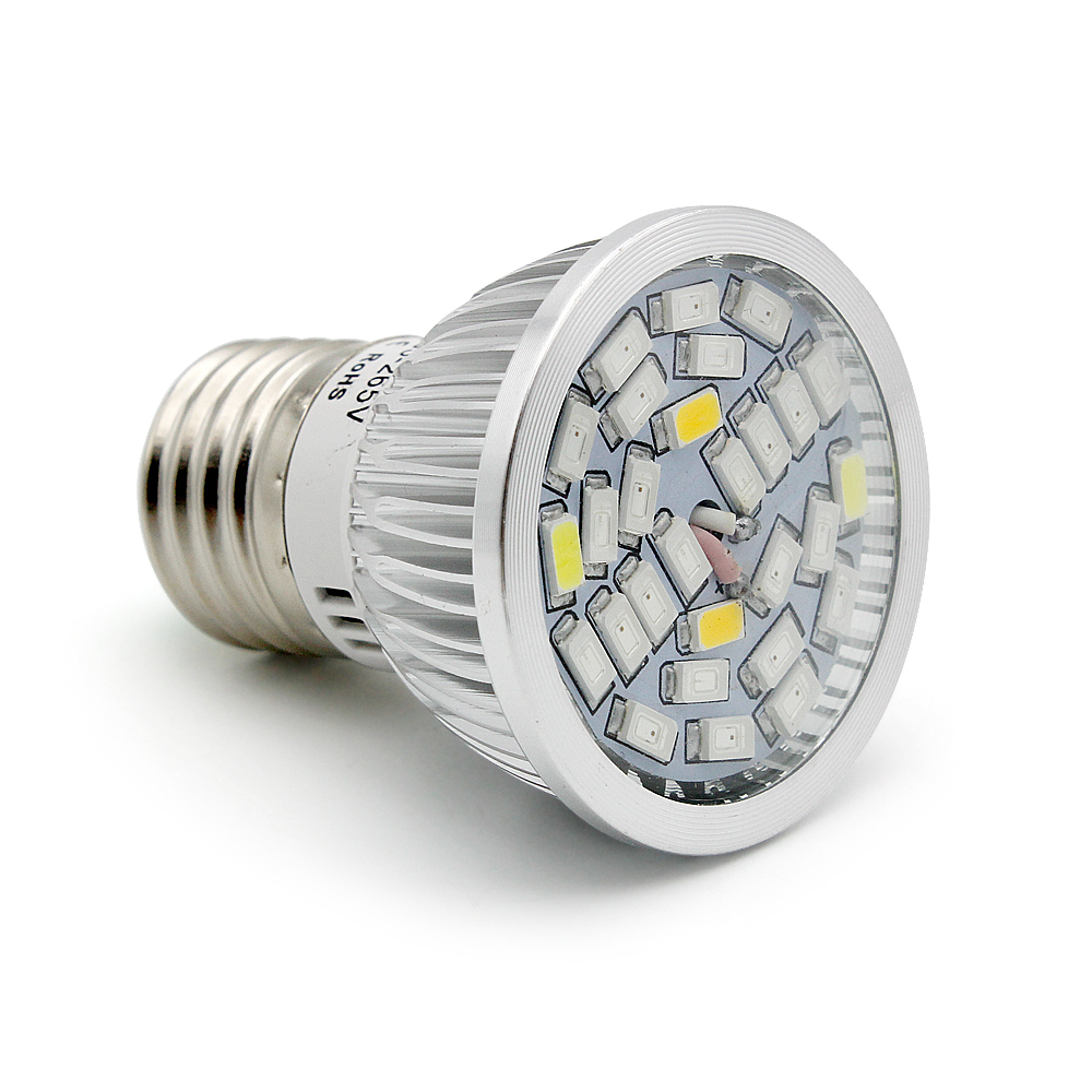Full Spectrum 5730 E27 28W 28 SMD LED <font><b>Grow</b></font> Light 220V 110V Plant Growing Lamp Blub for Indoor Flower Hydroponics Box <font><b>Tent</b></font> image