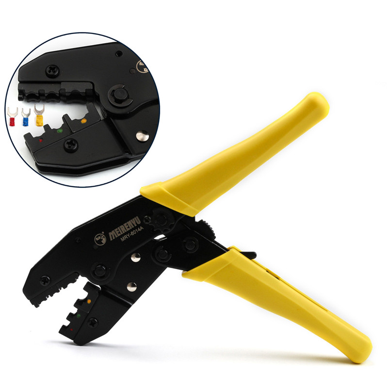 Ratcheting Tool Crimping Pliers Cable Cutters Network Tools Crimper for 0.5mm2/2.5mm2/4.0mm2/6.0mm2 AWG 22-10 Terminator ratcheting crimp pliers for 0 5mm2 6 0mm2 awg 22 10 terminator wire cable cutters tools clamp locking terminals press crimper