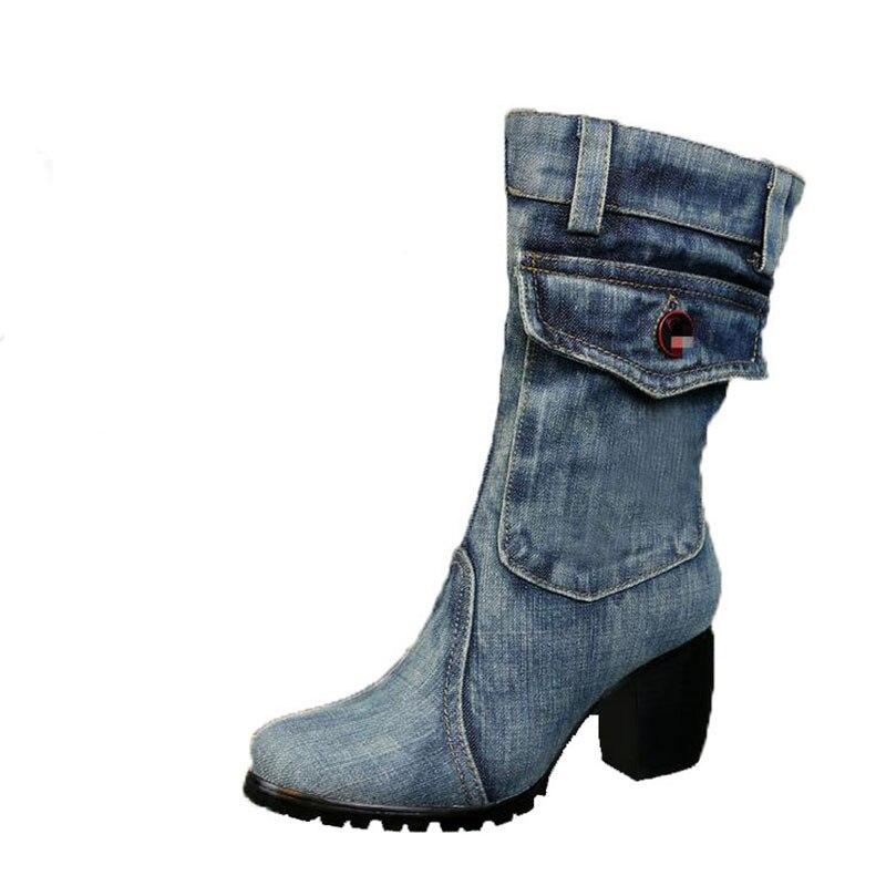 La nuova 2017 di modo stivali da cowboy stivali di alta-tacco alto stivali e confortevole scarpe di tela di ricreazione per linvernoLa nuova 2017 di modo stivali da cowboy stivali di alta-tacco alto stivali e confortevole scarpe di tela di ricreazione per linverno