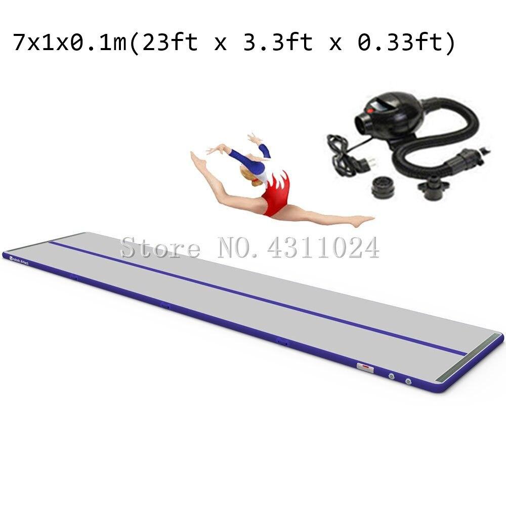 Sport Portable 7*1m Inflatable Tumble Track Trampoline Air Track Taekwondo Gymnastics Inflatable Mattress Gym Tumble Airtrack